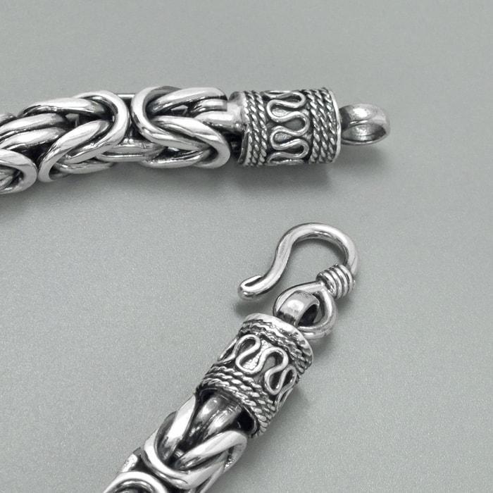 Solid Sterling Silver Byzantine Mens Bracelet 2
