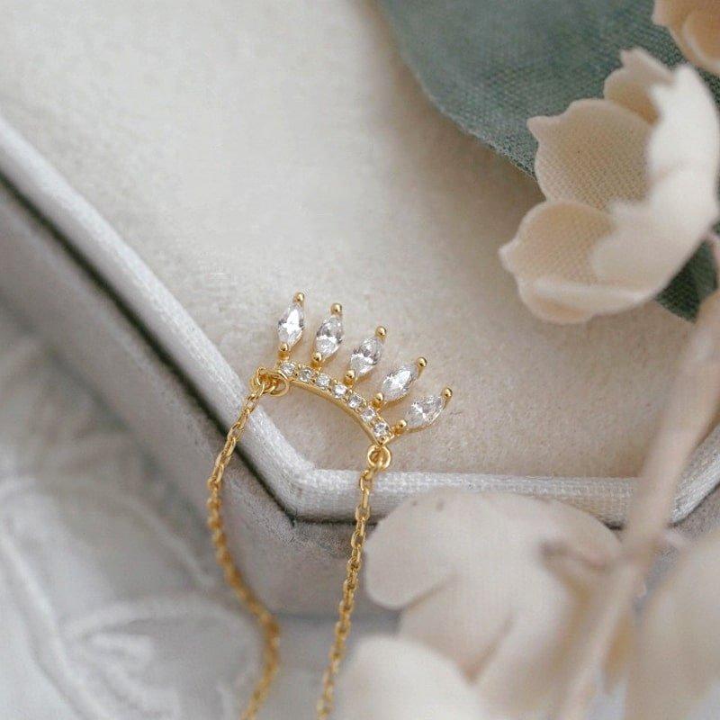 Wholesale Sterling Silver Dangle CZ Necklace